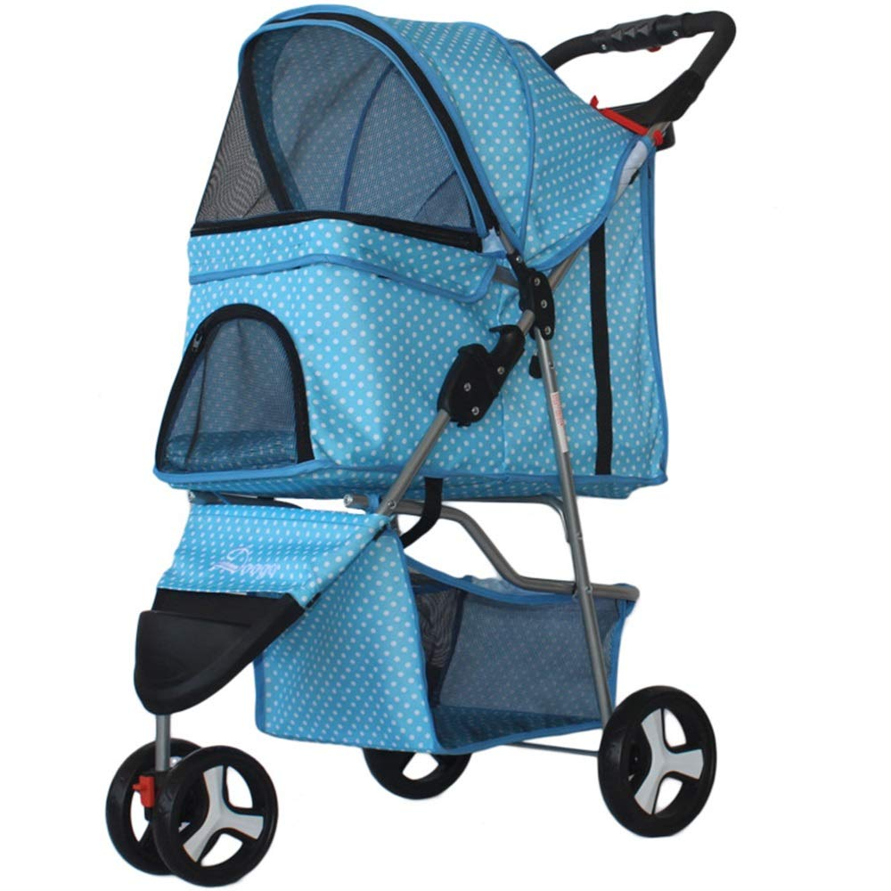 D Dog Strollers for Small Dogs Out Portable Antisqueezing Pet Portable Bag (color   A)