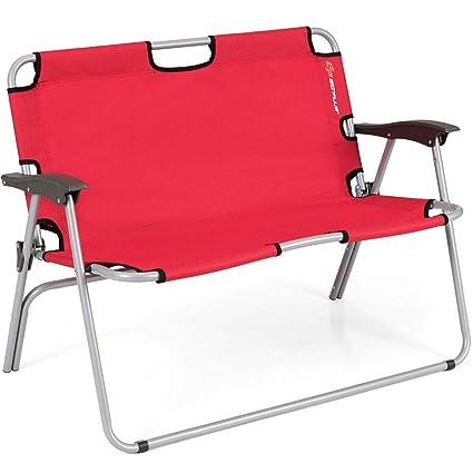 Marvelous Amazon Com Lunanice 2 Person Folding Camping Bench Creativecarmelina Interior Chair Design Creativecarmelinacom