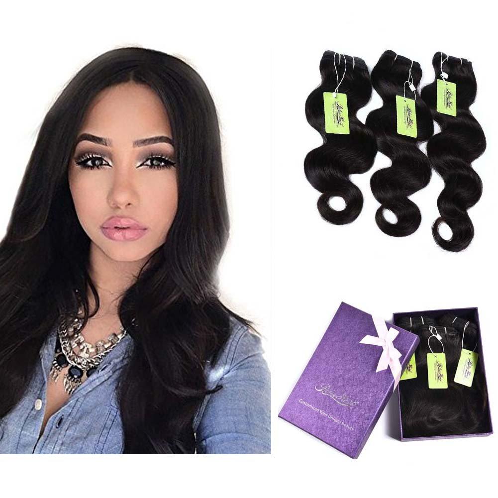 Best Hair Extensions Body Wave 3 Bundles Indian Vigin Hair Re4u