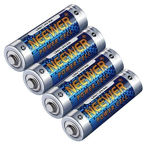 Neewer 4 Pack Count LR6 Alkaline AA Lithium Batteries 1.5V 2800mAh Reliable Long Lasting Power for Canon, Nikon, Sony Flashes, LED Video Lights, Battery Grips with AA Battery Holder and More