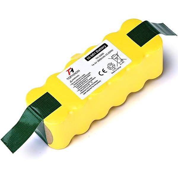 vhbw Batería Ni-MH 3000mAh (14.4V) compatible con iRobot Roomba ...