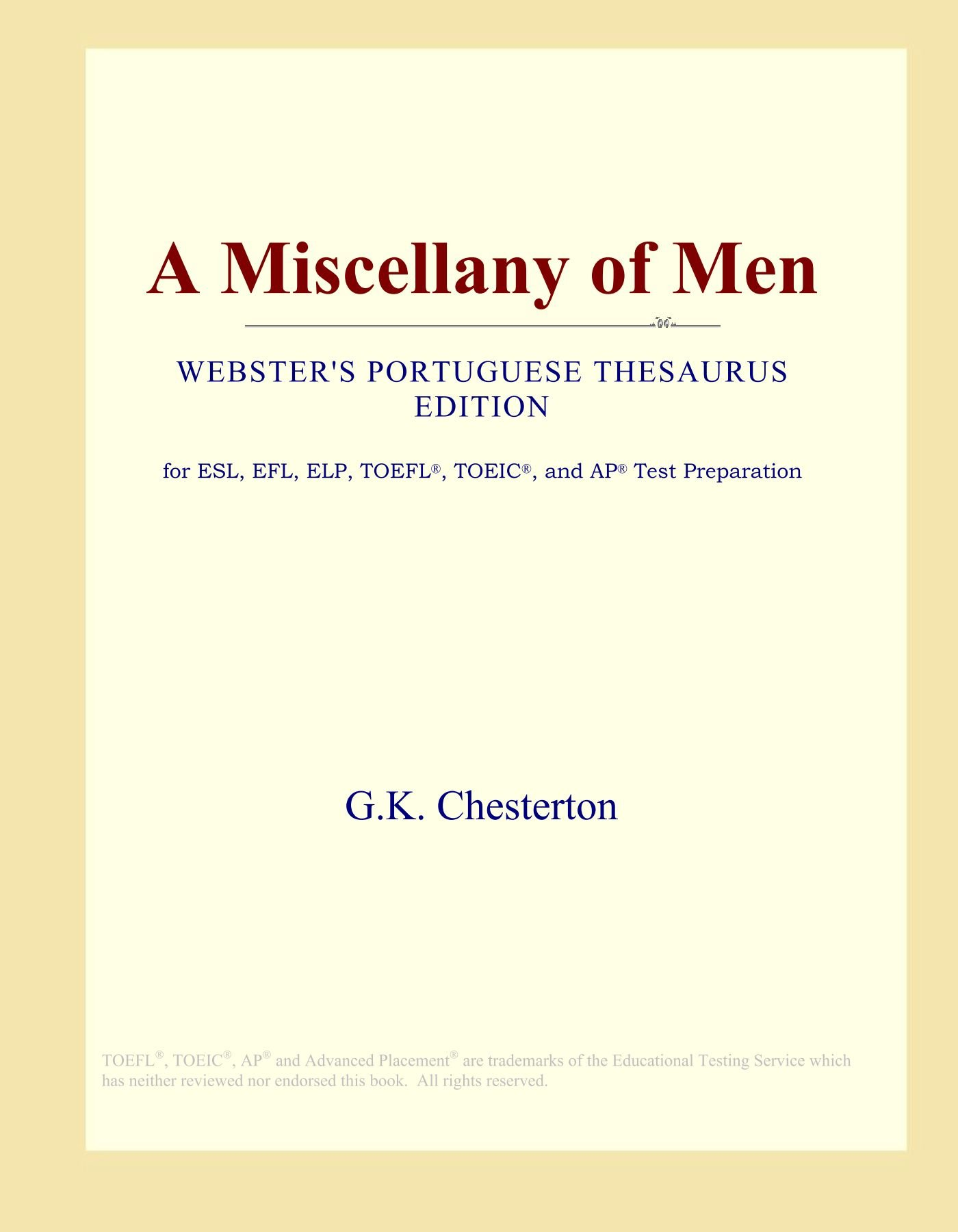 Download A Miscellany of Men (Webster's Portuguese Thesaurus Edition) PDF