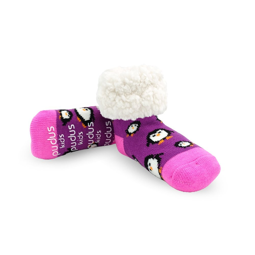4-7 years Pudus kids cozy winter classic slipper socks with grippers/…
