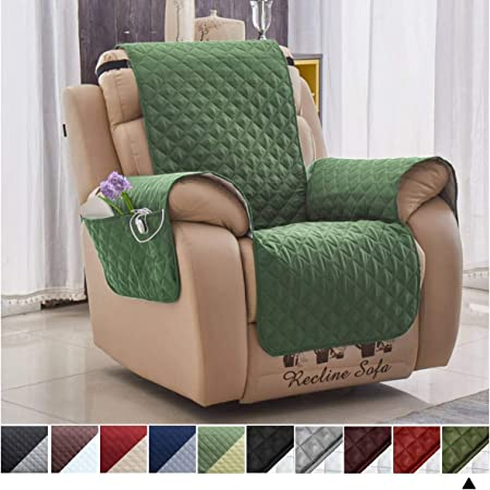 Green Cover With Pockets For Recliner Arm Chair Slipcover For Pets