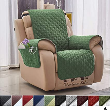 Admirable Green Cover With Pockets For Recliner Arm Chair Slipcover For Pets Spiritservingveterans Wood Chair Design Ideas Spiritservingveteransorg