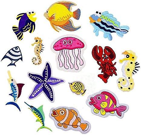 Sea Animals   Iron On Embroidered Iron on Sew on Patches motifs