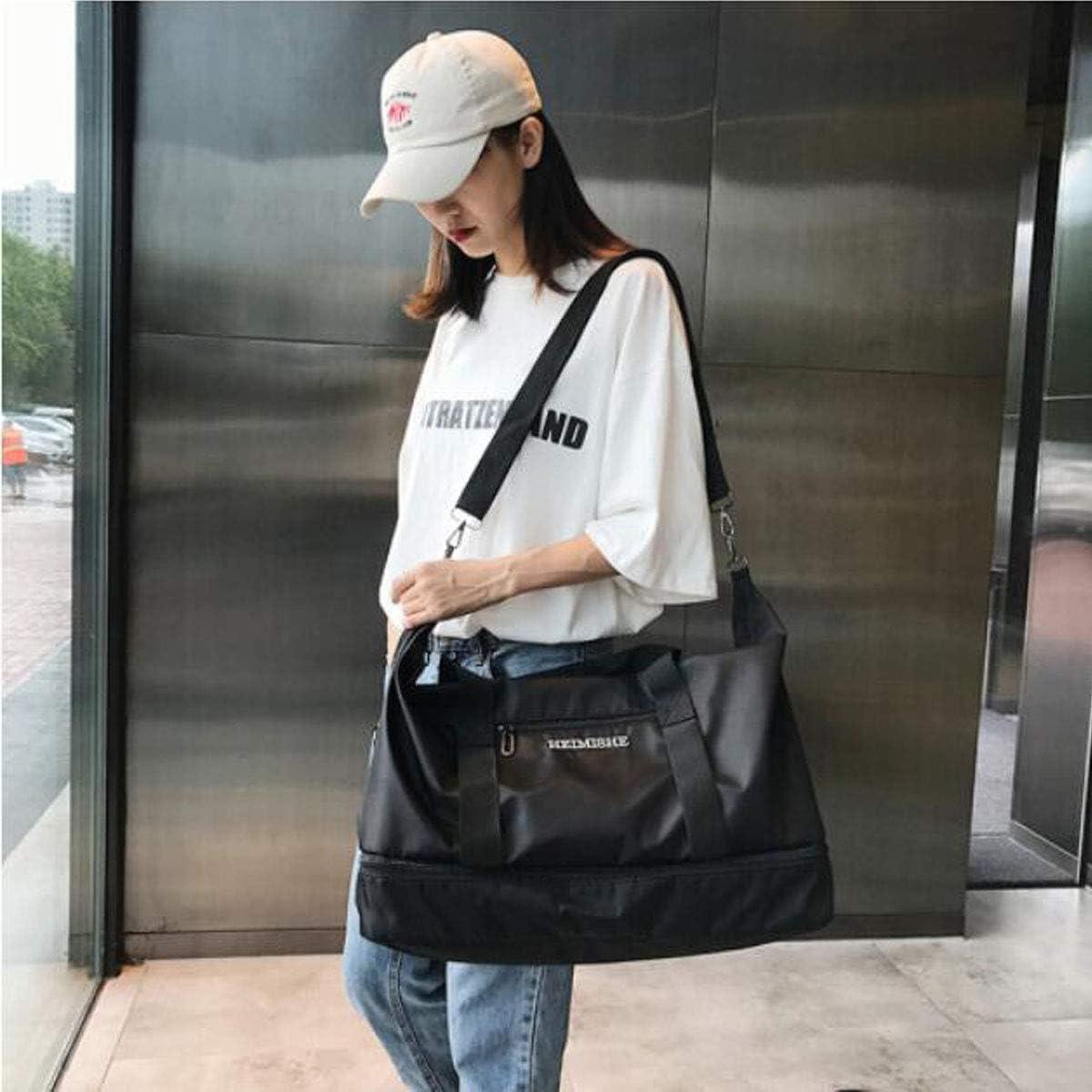 Kaiyitong Fitness Bag 2018 Practical Travel Bag Business Fashion Casual Fashion Bag Color : Pink Black Size: 452428cm