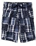 Gymboree Little Boys' Patchwork Woven Shorts, Gym Navy Plaid, 12