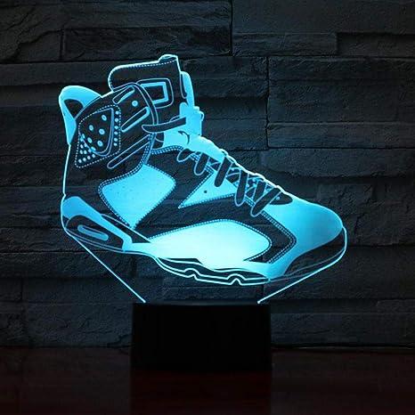 Jordan Retro 4 Zapatos Lámpara de baloncesto Decoración nocturna ...