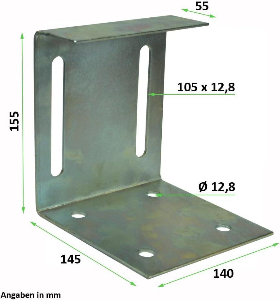 F/ührungsbock f/ür Schiebetore F/ührungsb/ügel mit vier F/ührungsrollen aus Nylon /Ø 27 mm f/ür Schiebetor Rolltor Torf/ührung
