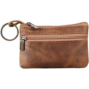 f776d9a7 Genuine Leather Mens Tray Purses Coin Purse Cash Change Wallet Key Holder  Money Pouch(HBZ01