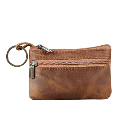 53ce83ff55529 Genuine Leather Mens Tray Purses Coin Purse Cash Change Wallet Key Holder  Money Pouch(HBZ01-G)  Amazon.co.uk  Luggage