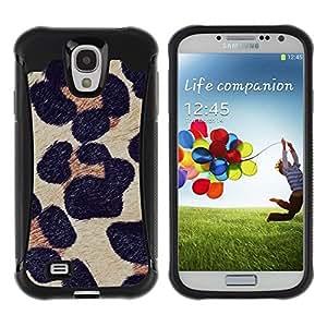 Suave TPU GEL Carcasa Funda Silicona Blando Estuche Caso de protección (para) Samsung Galaxy S4 IV I9500 / CECELL Phone case / / leopard pattern fur animal nature /
