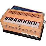 Sandhu Musicals 7 (GSTIN 06BGPSPS4334L1ZQ) Stopper Double Bellow 39 Keys Harmonium Bass, Male Reed With Cover