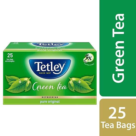 Tetley Green Tea Pure Original 25 Tea Bags Amazon In Grocery