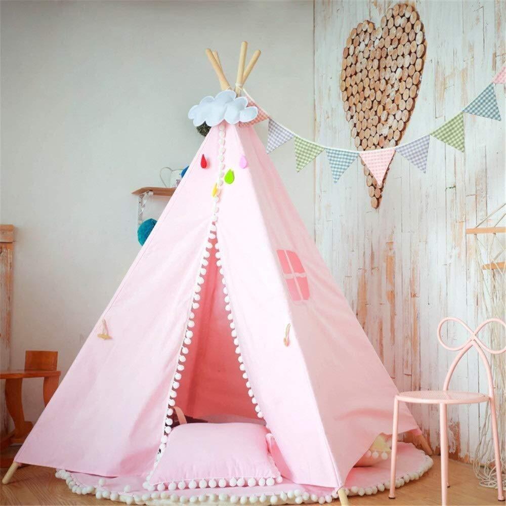 LMDT Tenda for Bambini Pieghevoli for Bambini Tende da Gioco for Ragazza e Ragazzo con Custodia for Ragazze da Interno ed Esterno ( Coloree   B )