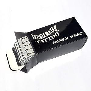 PFT 100 Pieces Mixed Tattoo Needles- 3rl, 5rl, 7rl, 9rl, 3rs, 5rs, 7rs, 9rs, 5ms, 7ms, 100 Count