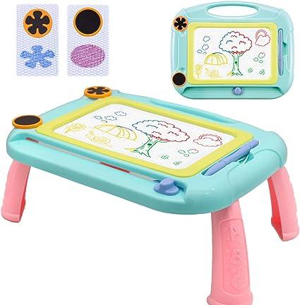 Ardoise Magique Tableau de Dessin Magnétique, Effaçable Multicolore  Sketchpad pour Enfants, Coloré Jouet Educatif 3 4 5 6 ans, vert