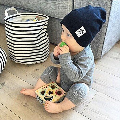 Baby Crawling Anti-Slip Knee and Anti Slip Baby Boys Girls Socks Best Infant Gift, Unisex Baby Toddlers Kneepads (Black Dark Grey)