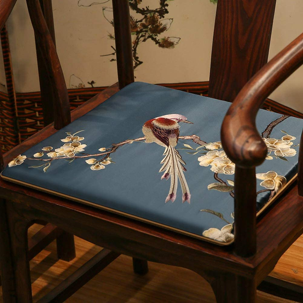 HOMRanger Chinese Mahogany Solid Wood Chair Cushion,Soft Thicken Non-Slip Seat Pad for Dining Taishi Chair Chinese-Style Room-d 50x50x3cm(20x20x1inch)