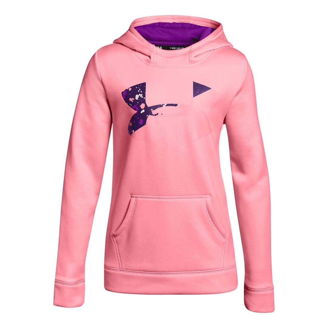 Under Armour Kids Girl's Armour Fleece Big Logo Hoodie (Big Kids) Pop Pink/Indulge/Purple Rave X-Small