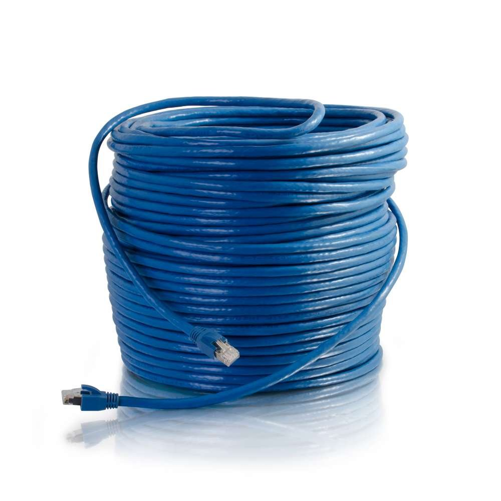 C2G/Cables to Go 43124 Cat6 Snagless Solid Shielded Network Patch Cable, Blue (300 Feet/91.44 Meters) by C2G/ Cables To Go