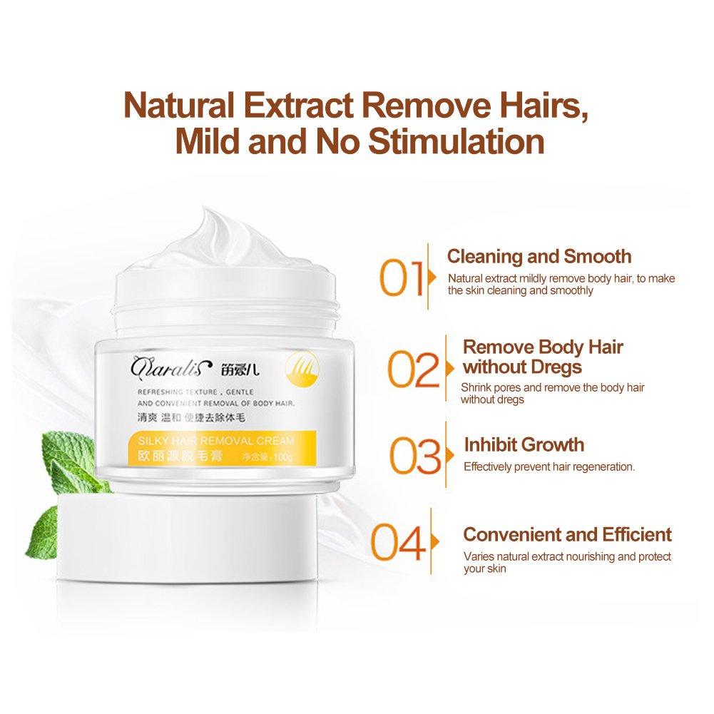 Crema para el cabello para hombres mujeres Rápidamente suave uso de la loción removedor de pelos en la cara, Bikini, axilas, piernas, brazos: Amazon.es: ...