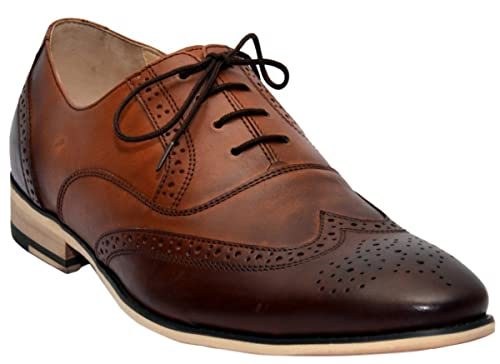 best sneakers e1260 d6bd5 German Wear Business Oxford Schuhe Brogues Lederschuhe Schuhe braun