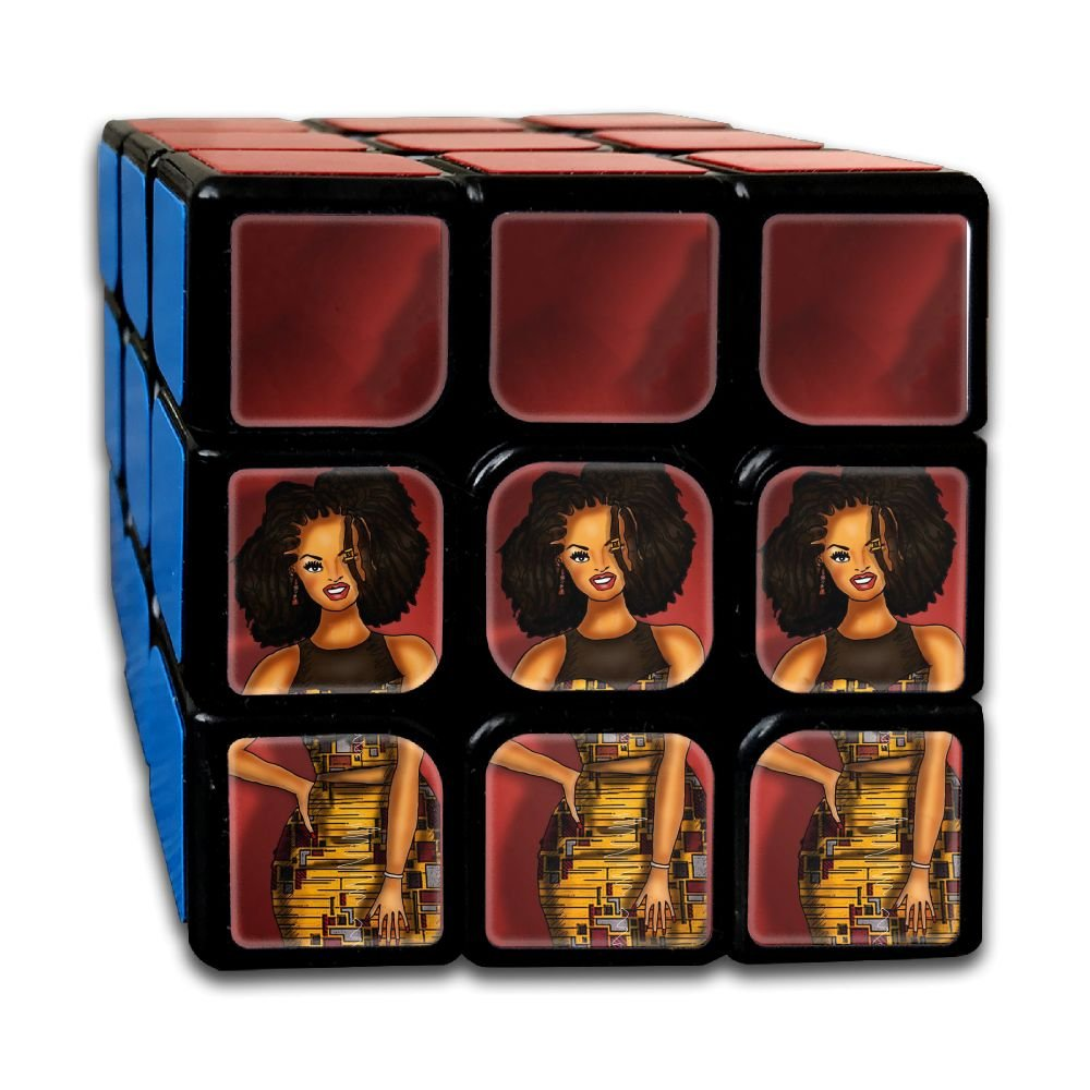 AVABAODAN Africa Big Hair Afro Rubik's Cube Custom 3x3x3 Magic Square Puzzles Game Portable Toys-Anti Stress For Anti-anxiety Adults Kids