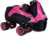 VNLA Zona Rosa Jam Skates | Quad Roller Skates from Vanilla – Indoor Speed Skates – Denim and Leather – for Tricks and Rhythm Skating