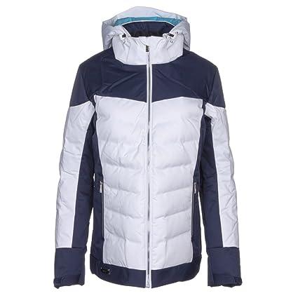 ec2bf3b707 Amazon.com  DESCENTE Hayden Womens Insulated Ski Jacket - 14 Super  White-Dark Night  Sports   Outdoors