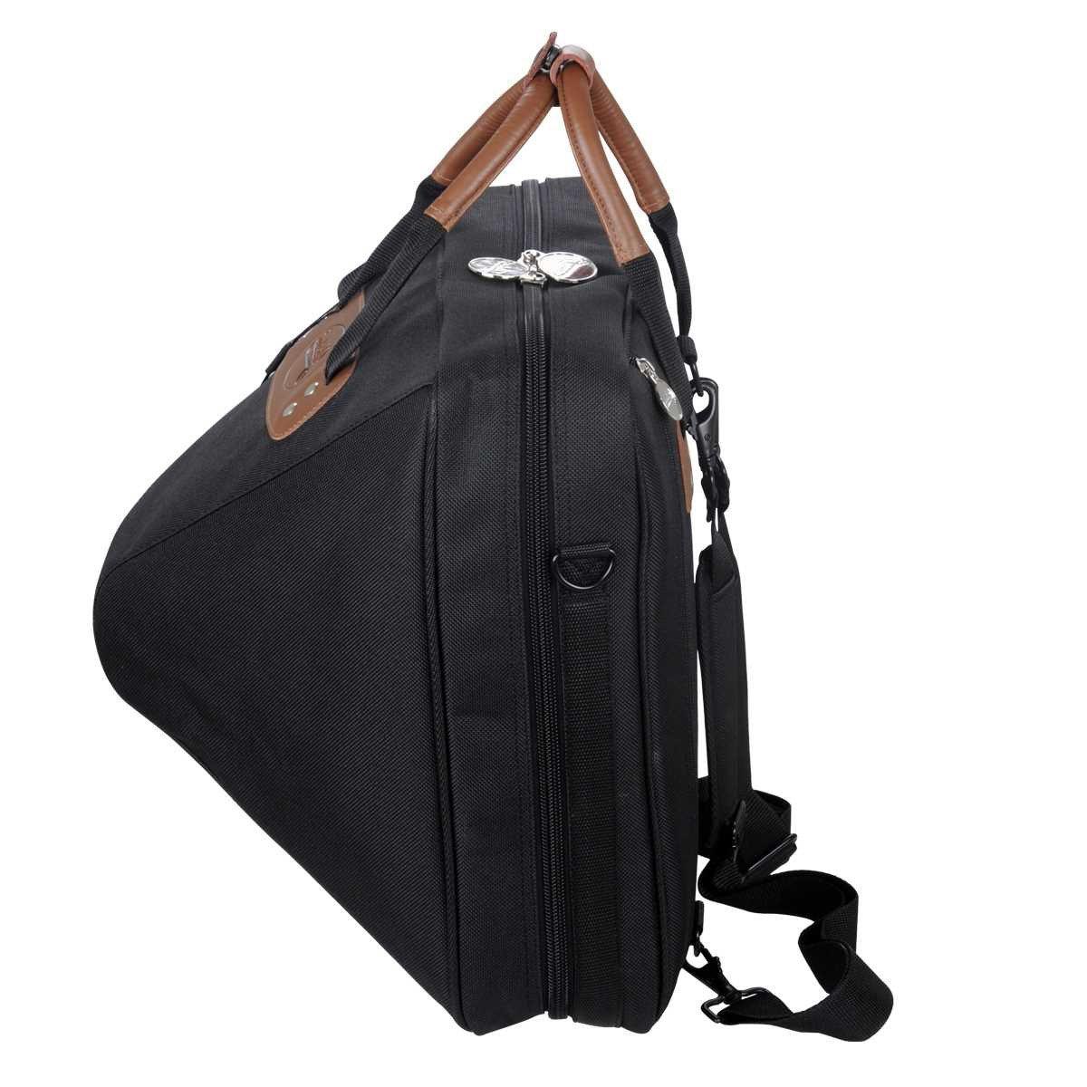 Jinchuan Deluxe French Horn Gig Bag Case Light Weight High Density Foam Padding E-6A Black by Jinchuan (Image #1)