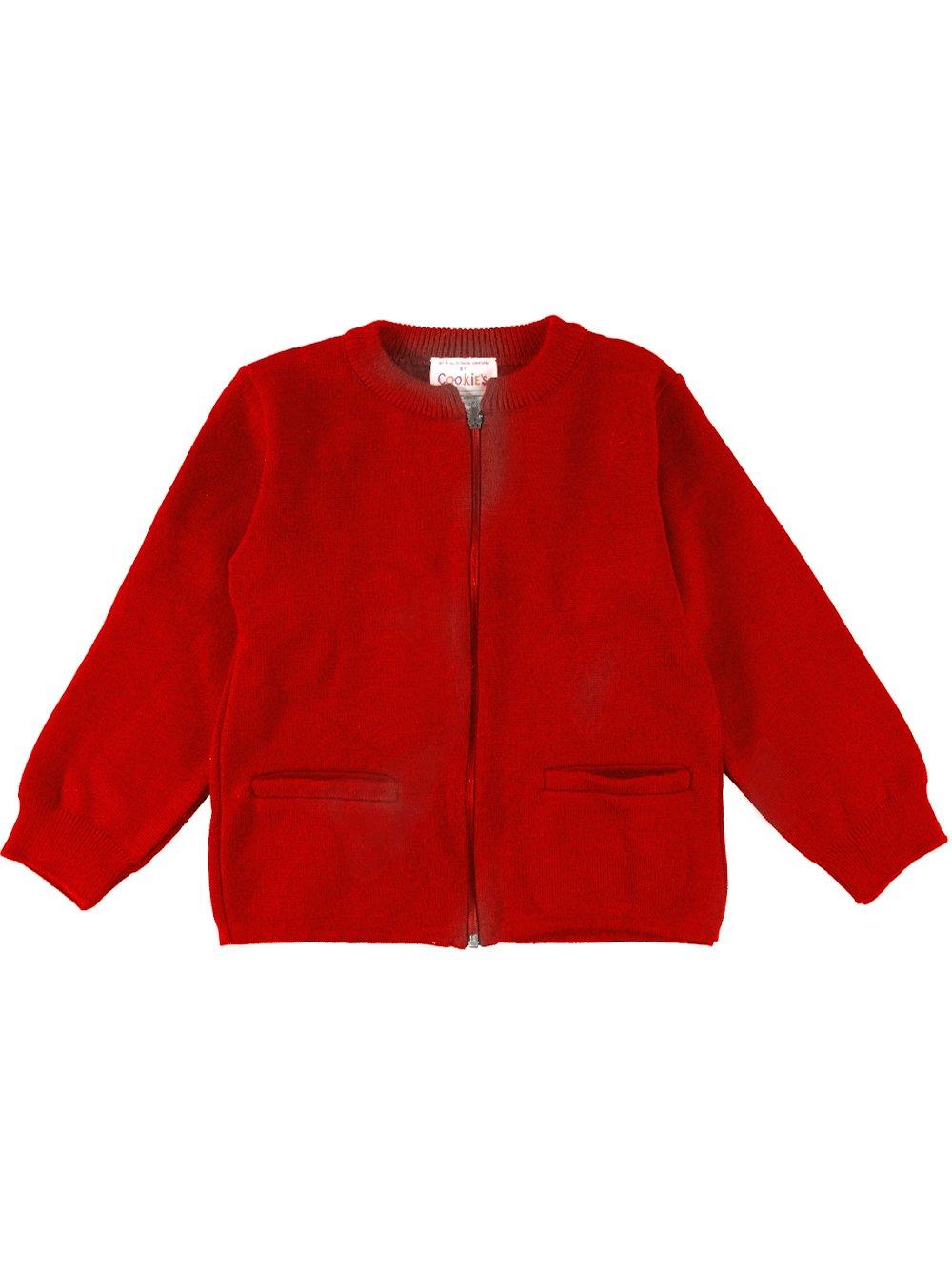 Cookie's Brand Little Girls' Zip-Up Cardigan - red, 6