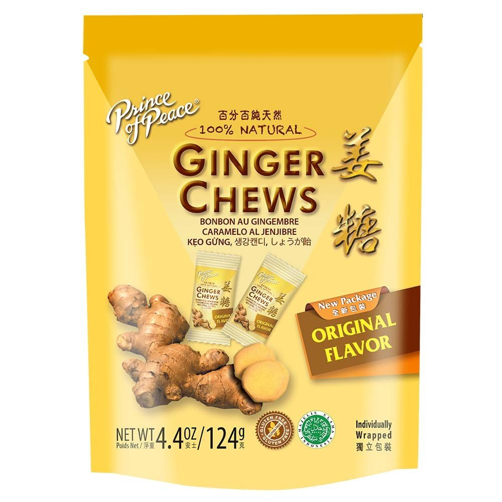 100% NATURAL 4.4 oz GINGER CANDY(6-pack)