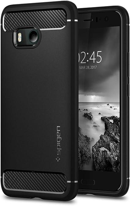 Spigen Funda HTC U11, Carcasa [Rugged Armor] Absorción de Choque ...