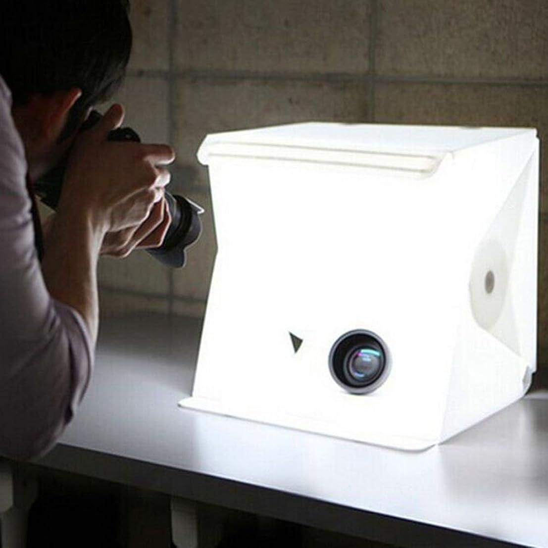 ニックネーム会社活気づけるInnens 「三代目」ミニ撮影ボックス 簡易スタジオ 撮影ボックス10モード 40個LED電球 光り調整可能 写真撮影 持ち運び便利24*23*25cm携帯型 簡易スタジオ (アップグレード版)
