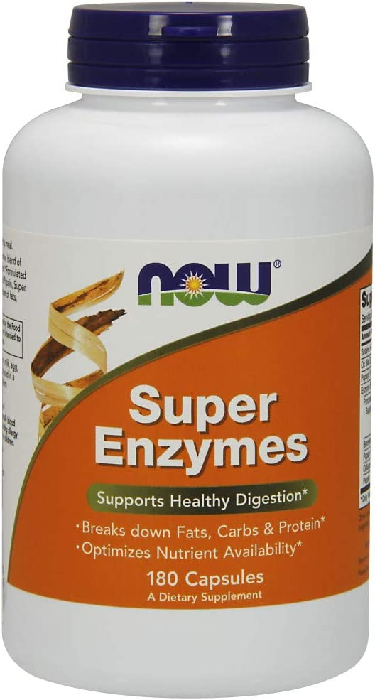 NOW Foods Supplements, Super Enzymes, Formulated with Bromelain, Ox Bile, Pancreatin and Papain, Super Enzymes, 180 Capsules: Health & Personal Care
