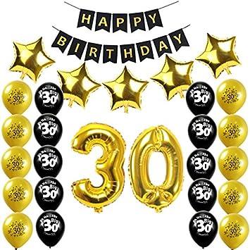 Losuya Trigésimo Cumpleaños Juego de Decoraciones para ...