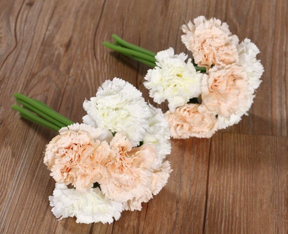Amazon Nument Tm Silk Artificial Carnation Flowers Real Touch