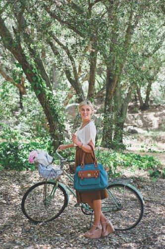 Timi and Leslie Sophia - Bolso cambiador, color azul y marrón