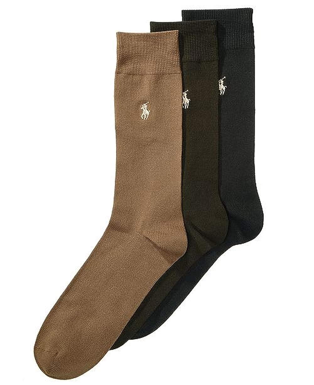 Polo Ralph Lauren Mens Extended Size Dress Socks 3-pack Extra ...