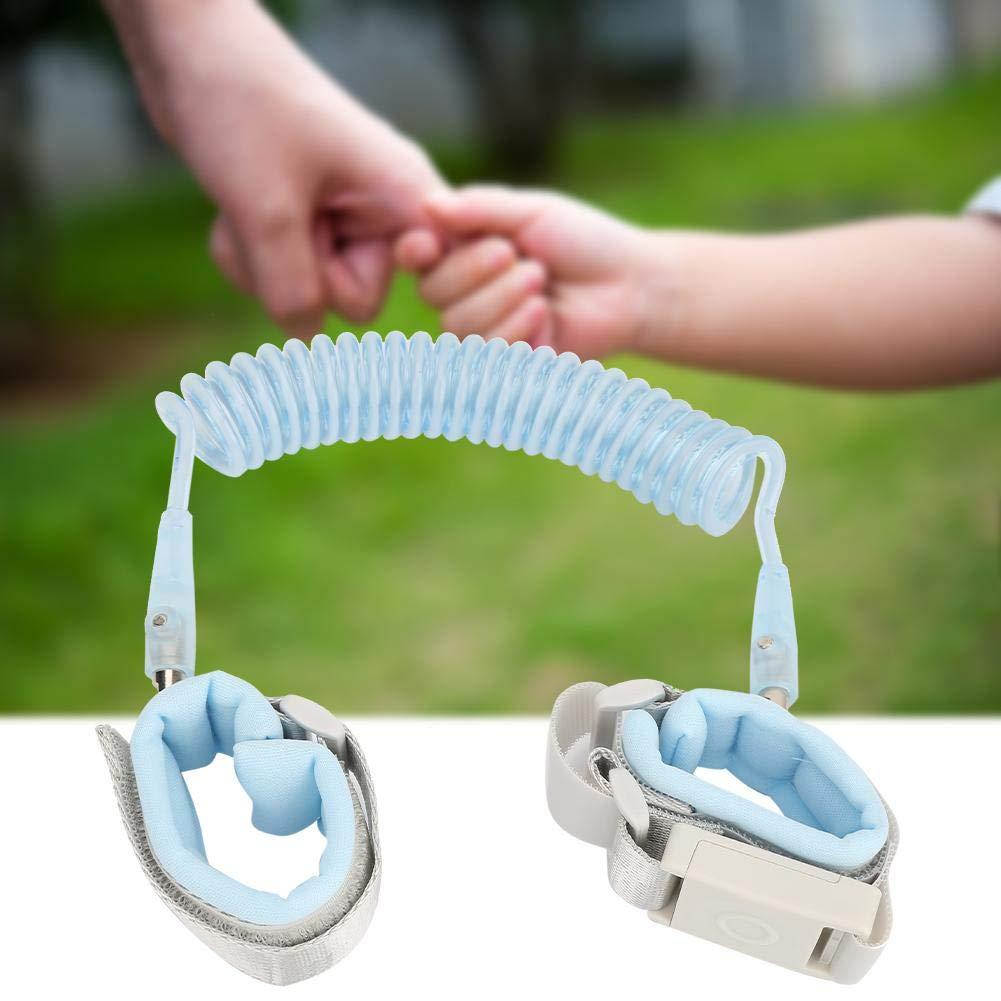 Baby-Anti-Lost-Zugseil Kindersicherheitshandgelenk-Leine Kindersicherheits-Gehgurt Blau