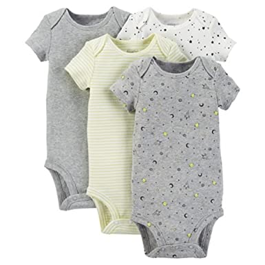 e1a101aed Carter's Precious Firsts Baby Boys' Space 4-Pack Bodysuit - Green (3 Months