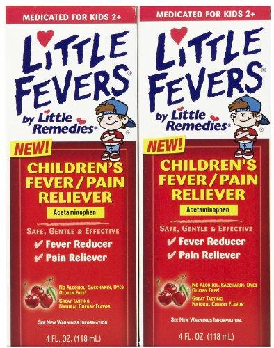 Petits remèdes Fever-analgésique acétaminophène cerisier naturel de Petite fièvres enfants - 4 fl oz