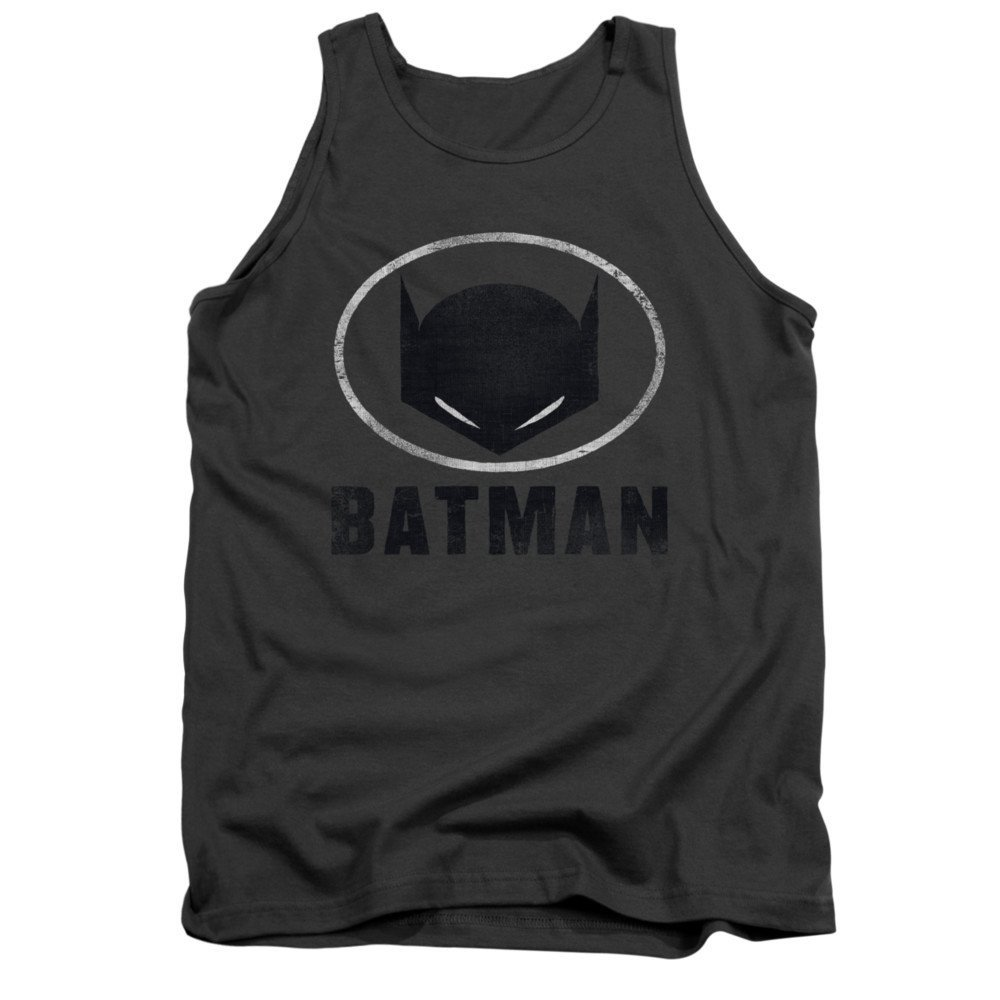 Batman Mask In Oval Adult Tank Top