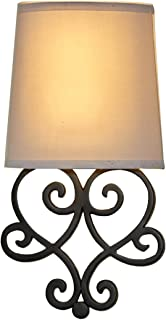 Itu0027s Exciting Lighting Iel 6400 Tnbk Heart Wireless Wall Sconce, Tan Shade  Black