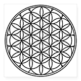 "CafePress - Flower Of Life Sticker - Square Bumper Sticker Car Decal, 3""x3"" (Small) or 5""x5"" (Large)"