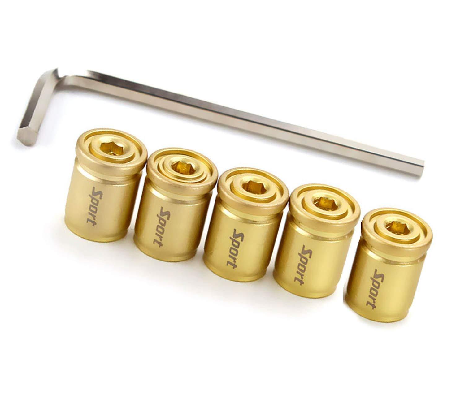 Coche Neum/ático Tapa de v/ástago de v/álvula C/áscara de bala Anti-robo (5 piezas)