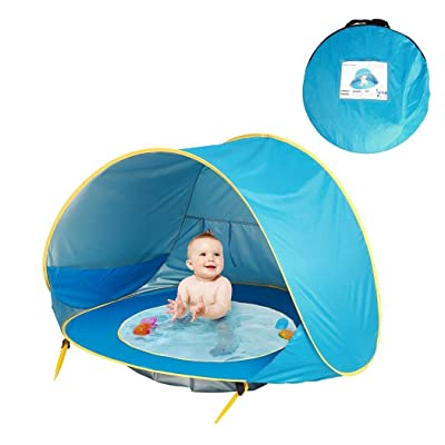 Weardear Portable Automatic Open Sunscreen Waterproof Beach Children Tent Play Tents: Garden & Outdoor