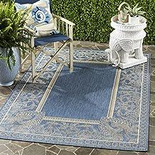 Amazon indoor outdoor rug blue